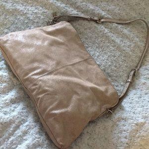 NWOT Metallic Hobo Style Bag